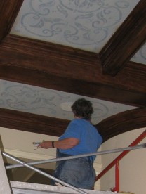 ceiling in progress